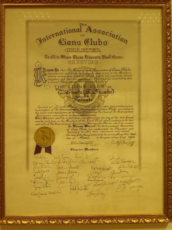 Charter San Giusto 18.03.1983