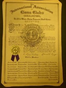 Lions Club Trieste 15.08.1957