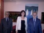 Gabriella Frezza con Armando Chelucci (PP) e Enzo Spagna (P)