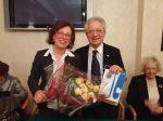 La Prof.ssa Cristina Benussi con Carlo Borghi, Presidente del Club
