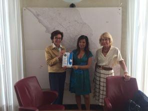 Cristiana Vidali, Angela Brandi e Marina Cinco