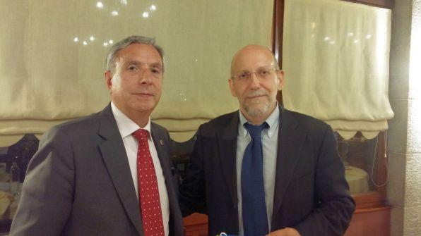 Insieme al Presidente della Comunità Ebraica AlessandroSalonichio
